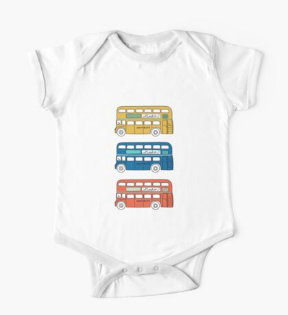 London Buses One Piece - Short Sleeve
