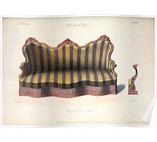 Le Garde Meuble Desire Guilmard 1839 0261 High Style Bed and Window Hanging Interior Design Poster