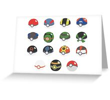 POKEBALLS SET Greeting Card