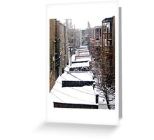 Back Yard Uban Winter Greeting Card