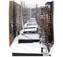 Back Yard Uban Winter Poster