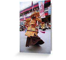 tibetan dancer. north india Greeting Card