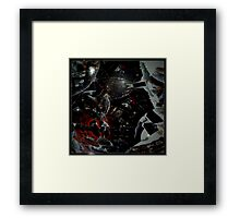 Surreal Cat Chaos Framed Print
