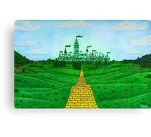 Emerald City Landscape by Kevenn T. Smith Canvas Print