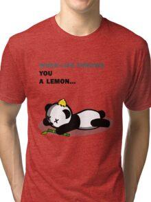 Panda Problems Tri-blend T-Shirt