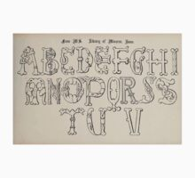 The Signist's Book of Modern Alphabets Freeman F Delamotte 1906 0115 Library of Minorva Rome Baby Tee