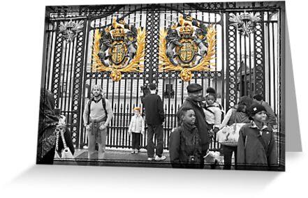 Golden Gates: Buckingham Palace, London. UK. by DonDavisUK