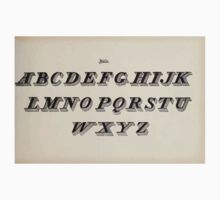 The Signist's Book of Modern Alphabets Freeman F Delamotte 1906 0079 Italic One Piece - Long Sleeve