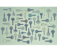 Vintage Key Collection Photographic Print