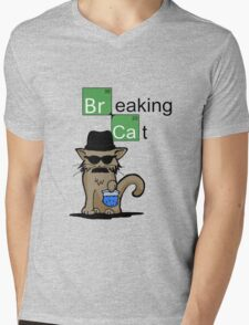 Breaking Cat  Mens V-Neck T-Shirt