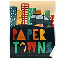 Paper Towns by John Green Book Cover Poster