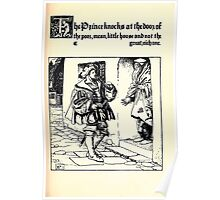 The Wonder Clock Howard Pyle 1915 0131 The Prince Knocks at the Door Poor Mean Little House Poster
