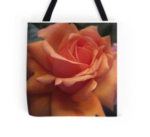 Orange Downton Abbey Rose Tote Bag