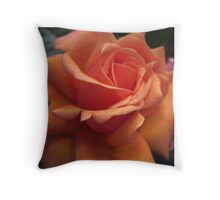 Orange Downton Abbey Rose Throw Pillow