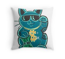 Cash Cat Throw Pillow