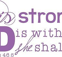 She is Strong (purple) by Rachel Rehrauer