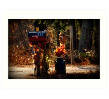 Autumn Along the Rural Road Art Print