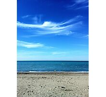 Blue as the sky and the sea in the summer Photographic Print