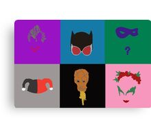 Villains of Gotham Canvas Print