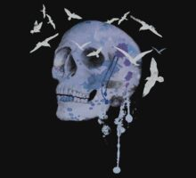 skull and birds by Marie Magnusson