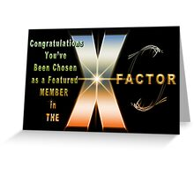 The X Factor Feature Group Banner Challenge Greeting Card
