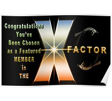 The X Factor Feature Group Banner Challenge Poster