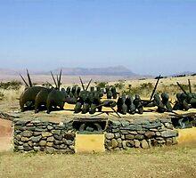 Zulu memorial at Isandlwana by poohsmate