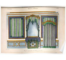Le Garde Meuble Desire Guilmard 1839 0311 High Style Bed and Window Hanging Interior Design Poster