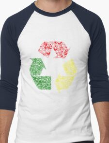 Peace, Love and Happiness Men's Baseball ¾ T-Shirt