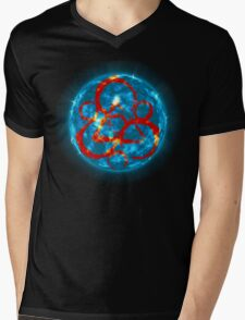 Keywork Mens V-Neck T-Shirt