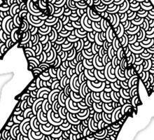 Psychedelic Sasquatch  Sticker