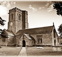 Church of St. Mary the Virgin - Antiqued print by Mark Podger