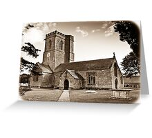 Church of St. Mary the Virgin - Antiqued print Greeting Card