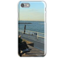 Relaxing; chatting, by the bay.  iPhone Case/Skin