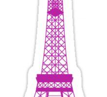 Purple Eiffel Tower Sticker