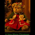 Christmas Teddy Bear by Kathy Weaver
