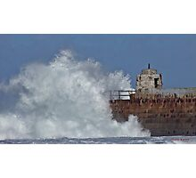 """"""" Still the waves smash into the pier"""" Photographic Print"""