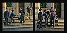 Boys Goofing Around - Maglie Italy by Debbie Pinard