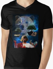Hippy Jesus Space Christmas Mens V-Neck T-Shirt