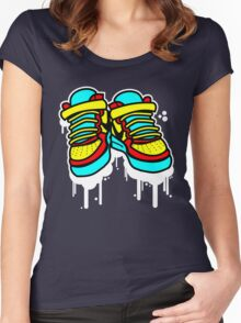 Primary High Tops Women's Fitted Scoop T-Shirt