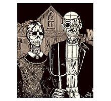 American Gothic Zombie Photographic Print