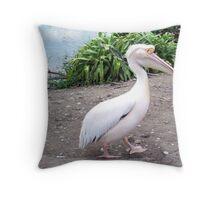 Elegant pelican Throw Pillow