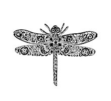 Dragonfly Doodle by Jacqueline Eden