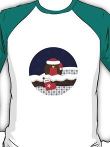 Robin On Christmas Eve - Christmas T-Shirt T-Shirt