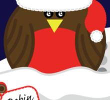 Robin On Christmas Eve - Christmas T-Shirt Sticker