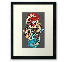Magikarp & Gyarados Framed Print