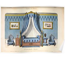 Le Garde Meuble Desire Guilmard 1839 0151 High Style Bed and Window Hanging Interior Design Poster