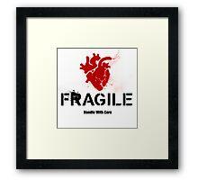 Fragile Anatomical Heart (RED) Framed Print