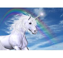 Over the Rainbow .. A Unicorn Tale Photographic Print