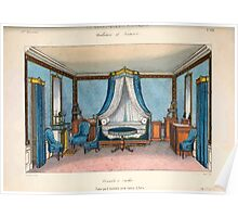 Le Garde Meuble Desire Guilmard 1839 0039 High Style Bed and Window Hanging Interior Design Poster